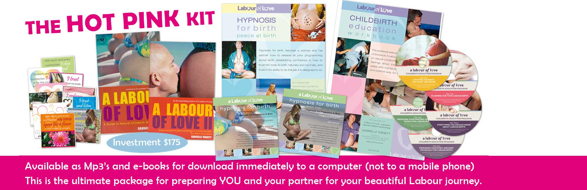 Hot Pink Kit - preparing You and your partner for your beautiful Labour journey